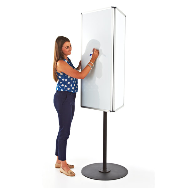 rotating 3-sided whiteboard