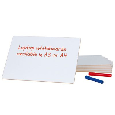 A4 & A3 Whiteboards Unframed pack of 6
