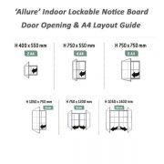 Allure Indoor Lockable Notice Board