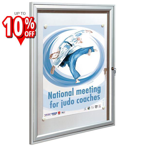 Allure Pro magnetic Internal lockable Notice Board