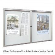 Allure Professional Indoor Lockable Notice Board