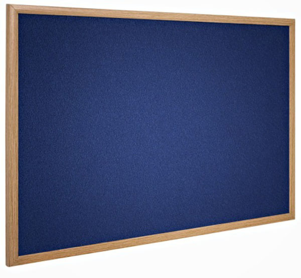 Wood Frame Notice Boards - Felt Pin Board in 4 Colours & 5 Sizes
