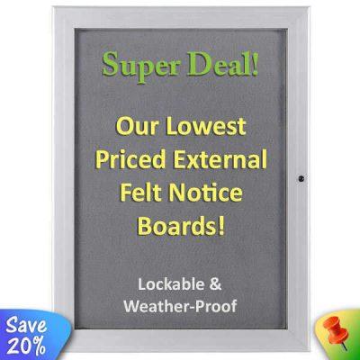 cheap external notice board