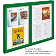 two door external notice board