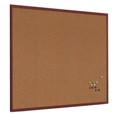 hardwood frame cork notice board
