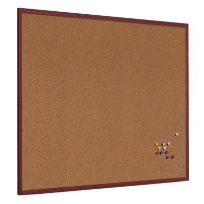hardwood frame cork notice board