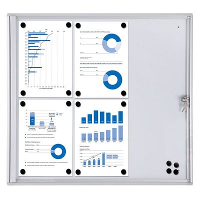 magnetic Lockable Notice Board