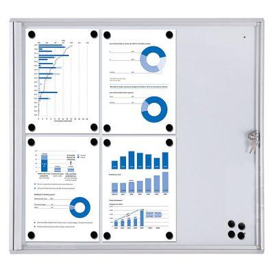 magnetic Lockable Notice Board