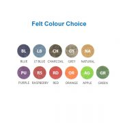 felt colour choice
