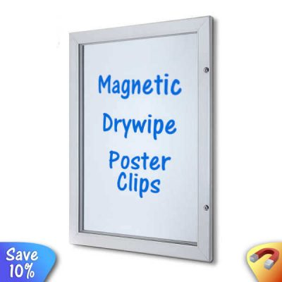 Neptune External poster case notice board with magnetic display