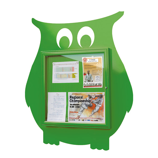 animal shape external notice board