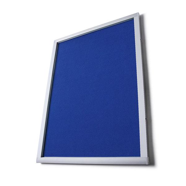 External lockable felt notice boards
