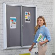 sliding door notice board