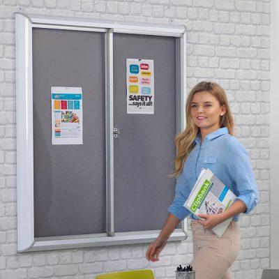 Sliding Door Notice Boards