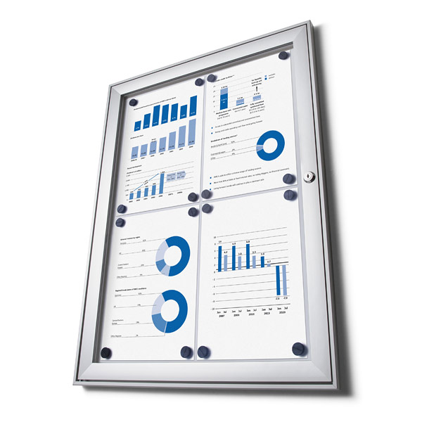 budget magnetic external notice board