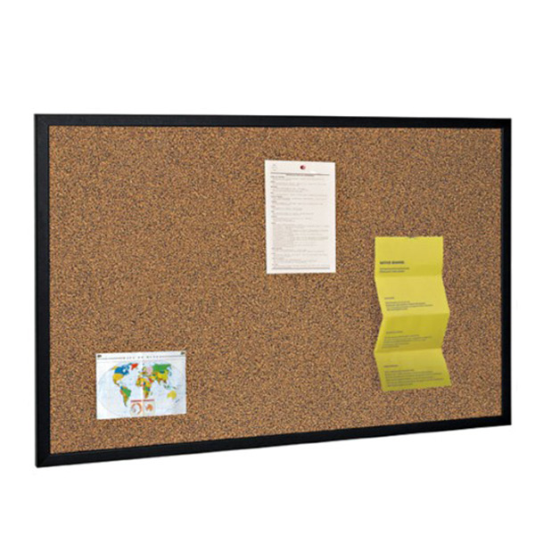 black frame cork notice board