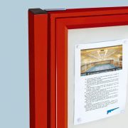 external notice board post mounted