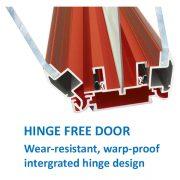 Tradition external notice board hinge-free-door design cut away image