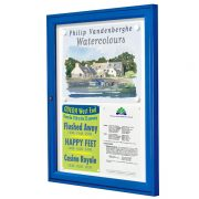 external notice board blue frame