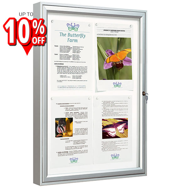 classic 58 large external notice board wall mount