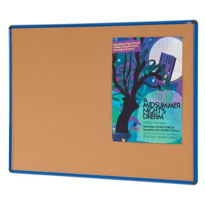 coloured frame cork pin notice board