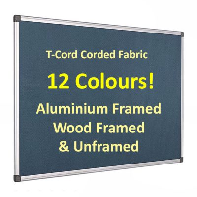 Corded hessian fabric notice board
