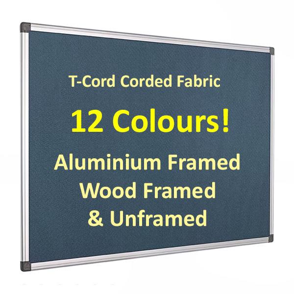 Corded hessian fabric notice board