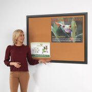 black frame cork notice board extra wide frame