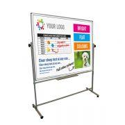 custom printed mobile revolving whiteboard