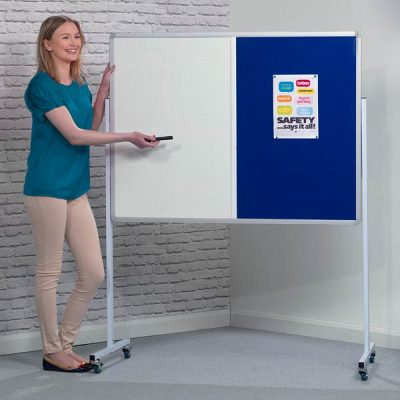 mobile combination notice board whiteboard
