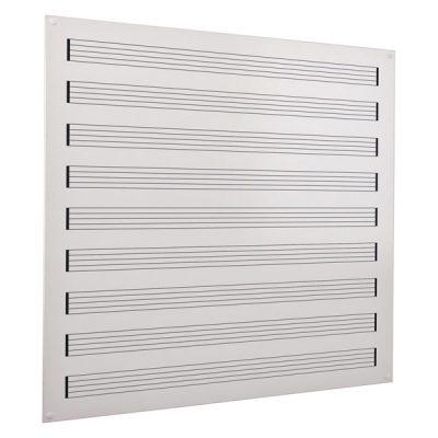 Music stave frameless whiteboard