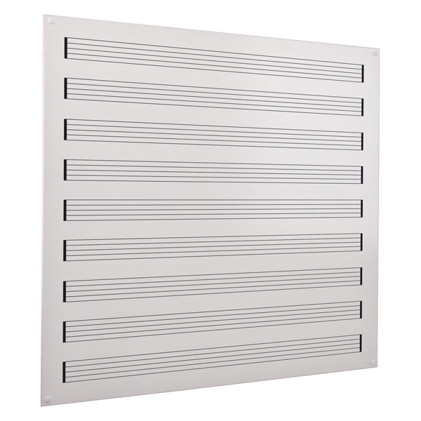 Music stave frameless whiteboard