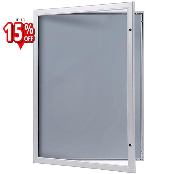 lockable external poster case