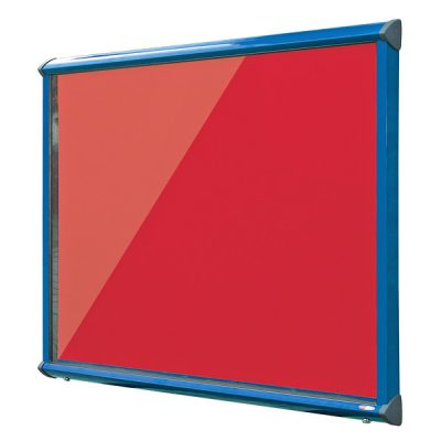 outdoor lockable felt notice boards