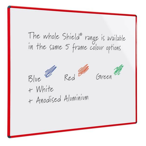 red green blue white frame whiteboard