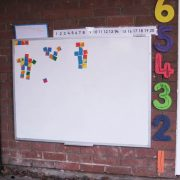 external weatherproof magnetic whiteboard for school playgrounds
