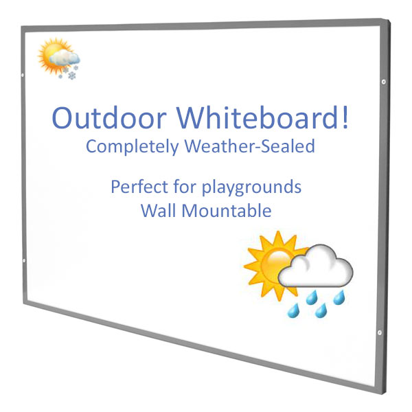 External weatherproof magnetic whiteboard
