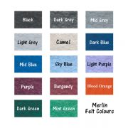 Merlin Felt colours