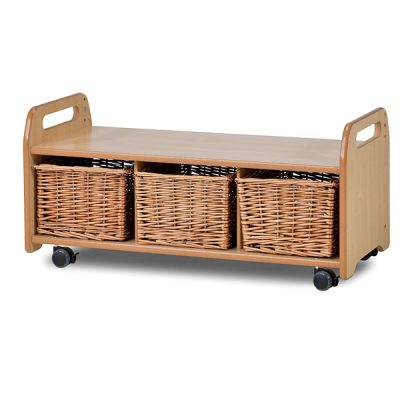 mobile low level nursery storage unit