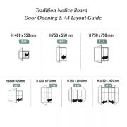 Tradition external notice board A4 layout guide