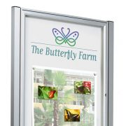 post mounted external notice board in silver