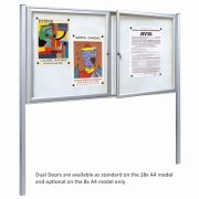 post mounted external notice board