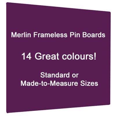 Merlin Frameless notice board in 14 colous