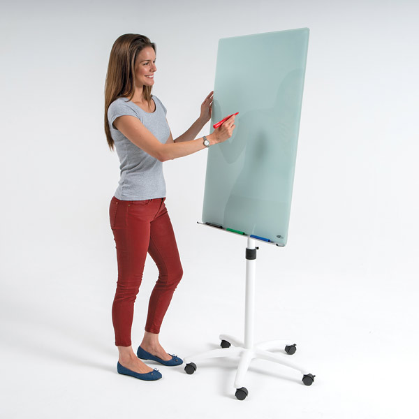 glass flip chart easel