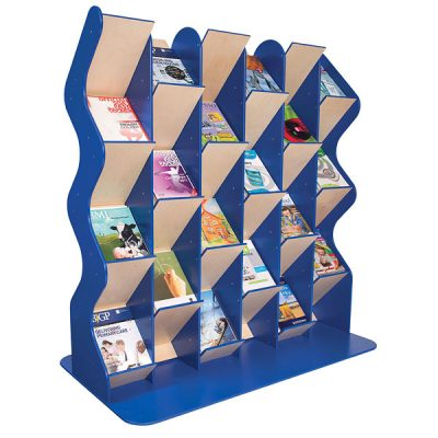 large wood literature stand