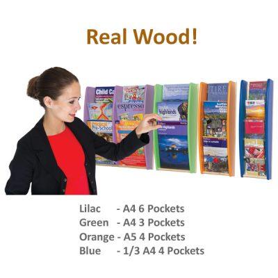 Wall Mounted Wood Leaflet Holder