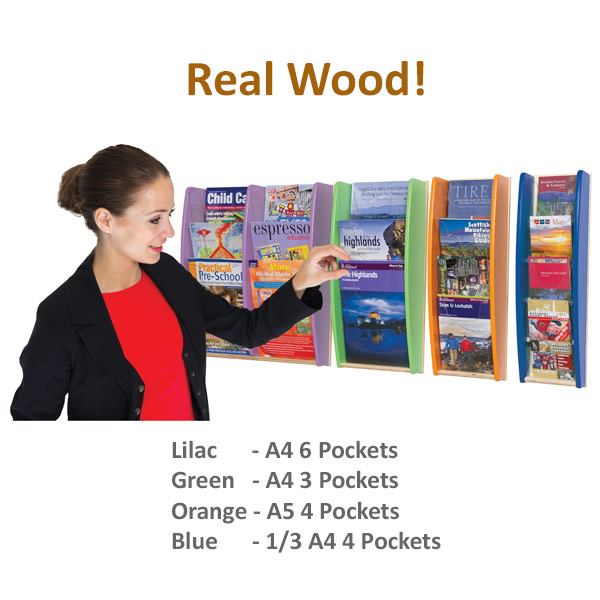 Wall Mounted Wood Leaflet Holder