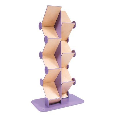 wood zig zag brochure dispenser
