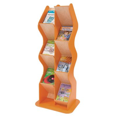 wood free standing brochure holder