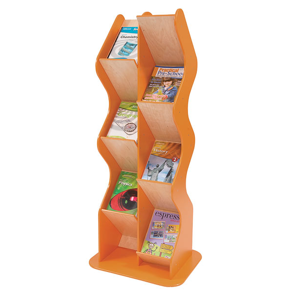wood free standing brochure holder